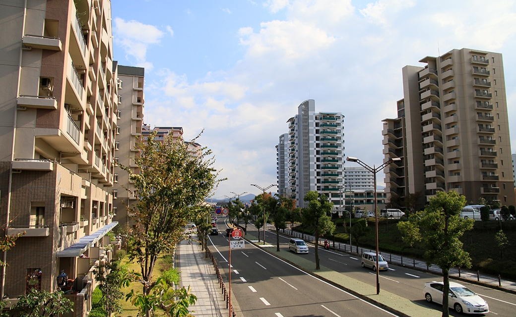和泉市の街並み